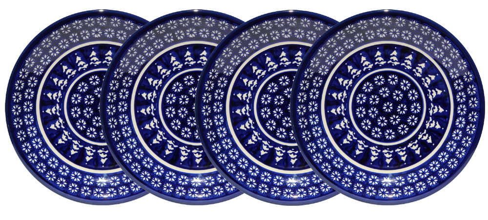 Set of 4 Dinner Plates  9.5 Inch