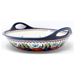 Large Deep Bowl with Handles